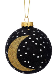 Glitter Star And Moon Bauble