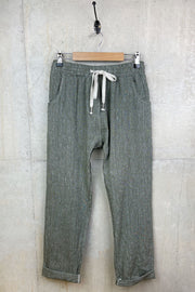 Womens Linen Khaki Trousers