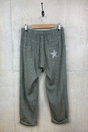 Linen Star Pocket Trousers