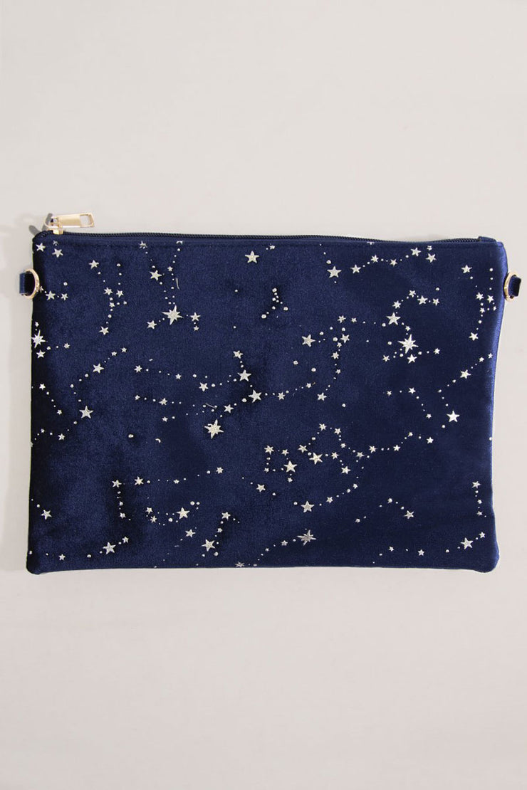 Velvet Star Clutch - Navy