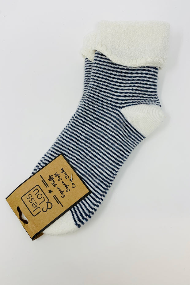 Navy Stripe Socks