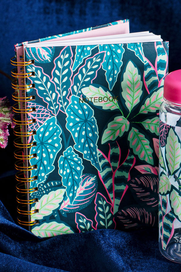 Sass & Belle Variegated Leaves A5 Notebook