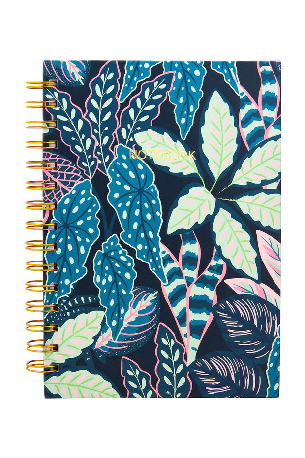 Sass and Belle Variegated Leaves A5 Notebook