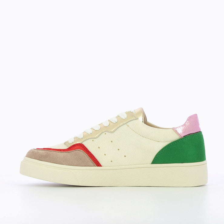 Vanessa Wu Off-White Sneakers With Multicoloured Detail