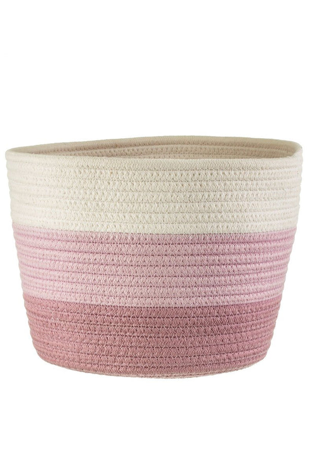 Pink Rope Basket Planter