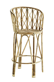 Madam Stoltz Bamboo Bar Stool