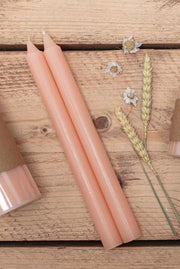 Rose Champagne Tapered Candles