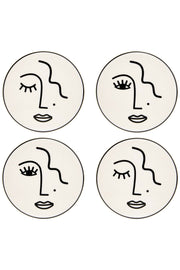 Sass and Belle Abstract Face Coasters (Set of 4)