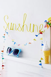 Sunshine Wall Art Word