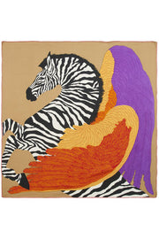 Rosie Fox Winged Zebra Scarf taupe