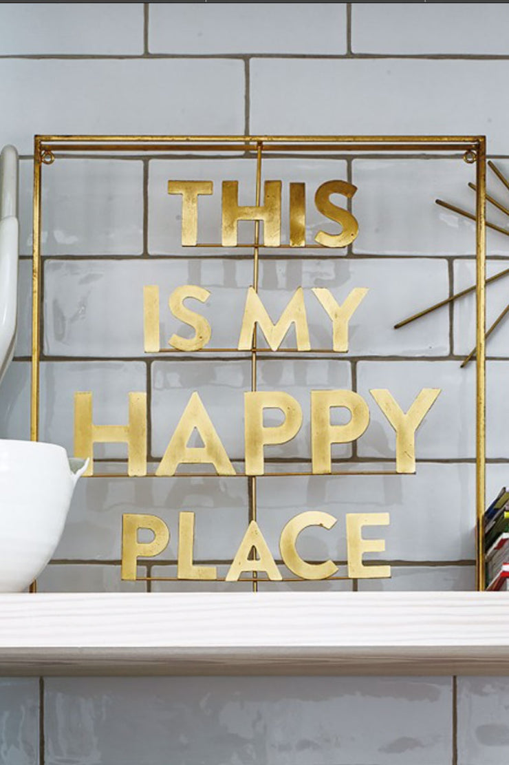 This Is My Happy Place Brass Wall Art