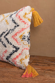 Warli Recycled Hand Tufted Cotton Cushion