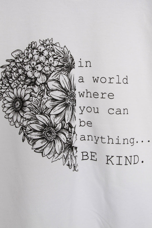 Be Kind Slogan Sweatshirt