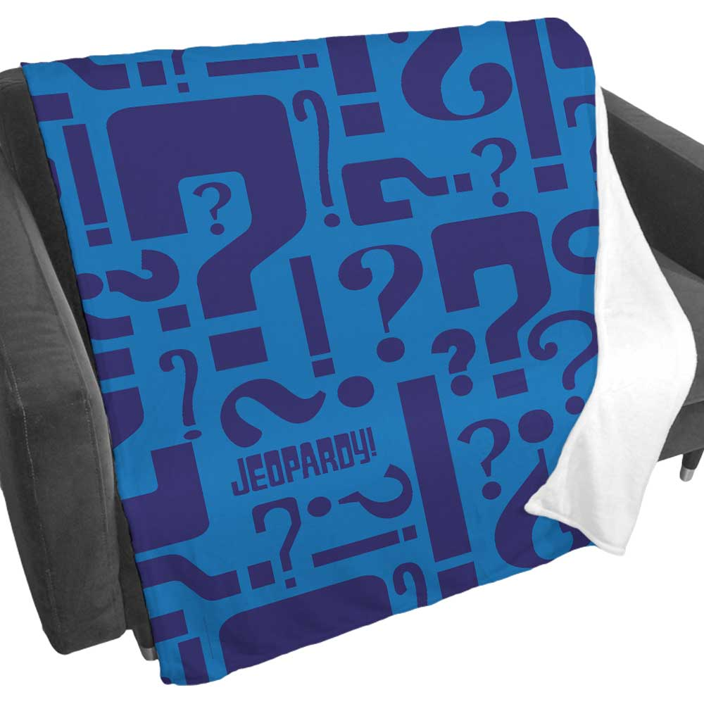 Jeopardy! Question Mark Fleece Blanket