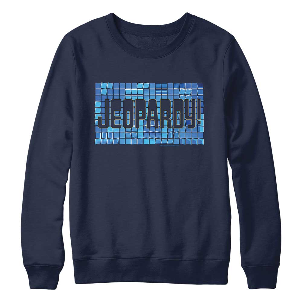 Jeopardy! Tile Logo Navy Crewneck