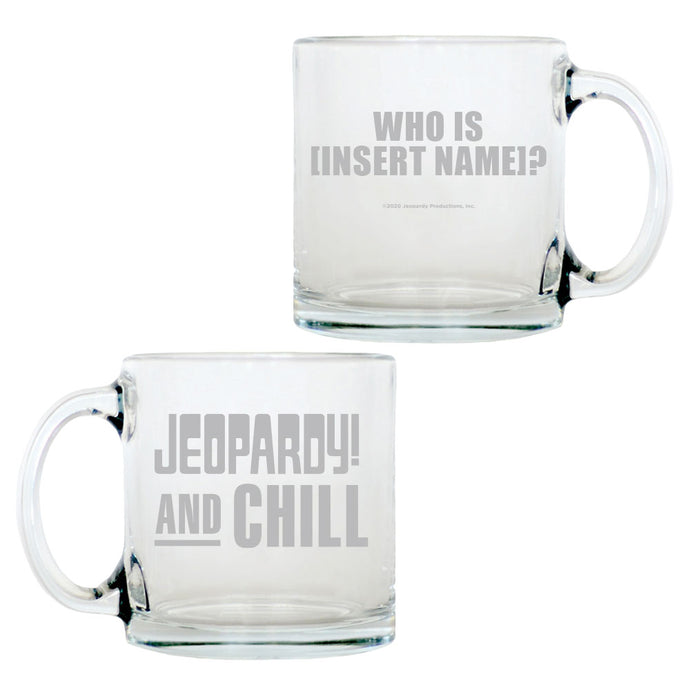 Jeopardy! and Chill Personalized Glass Mug