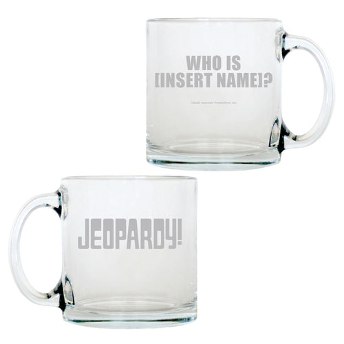 Jeopardy! Logo Personalized Glass Mug