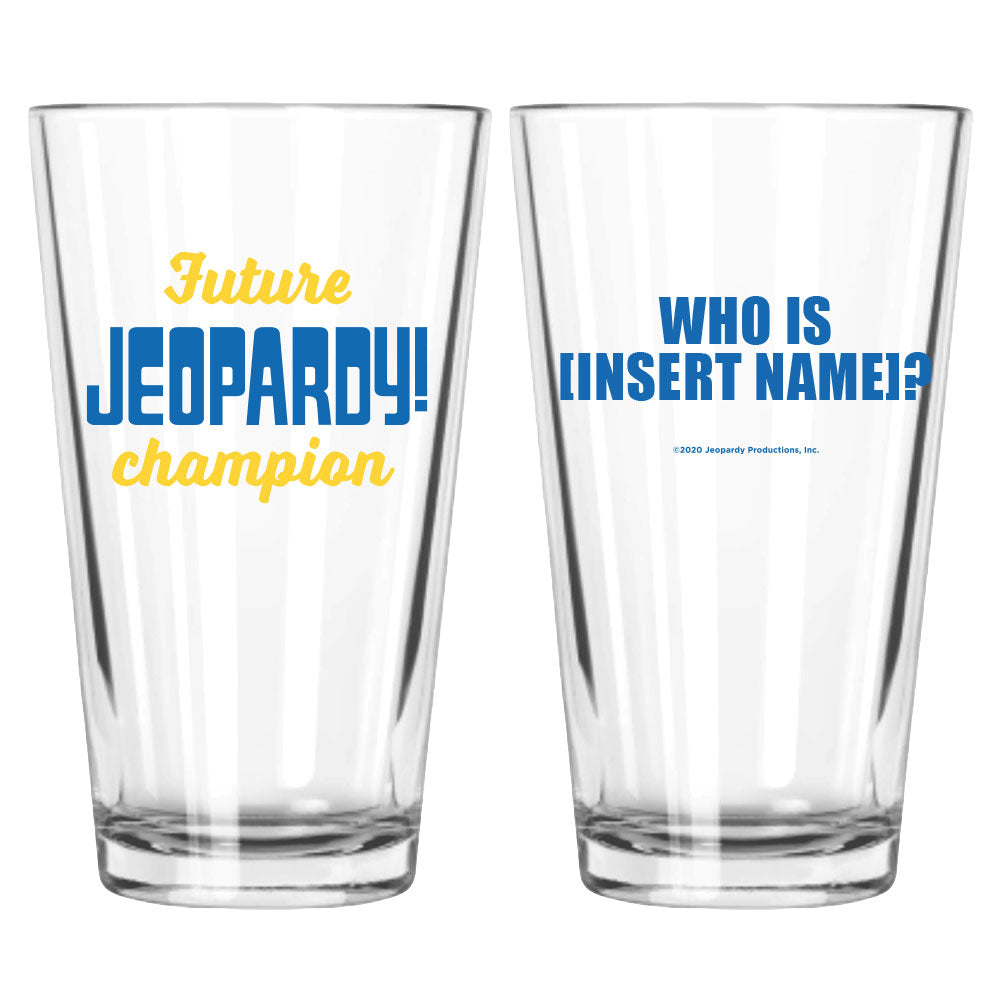 Future Jeopardy! Champion Personalized Pint Glass