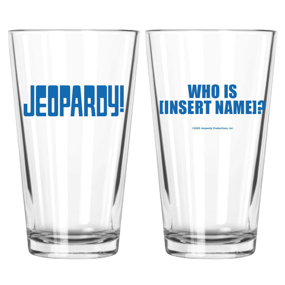Jeopardy! Logo Personalized Pint Glass