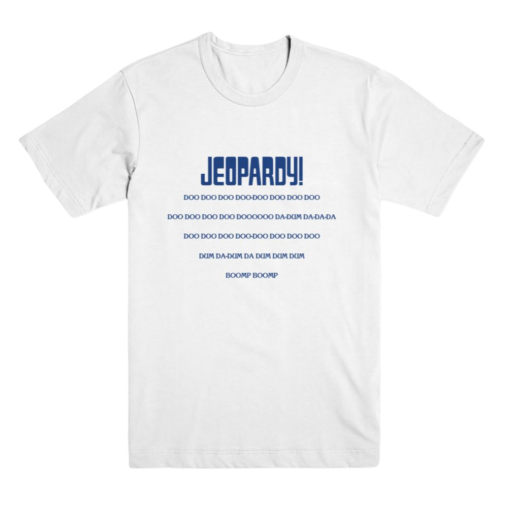 Jeopardy! Music White Unisex Tee