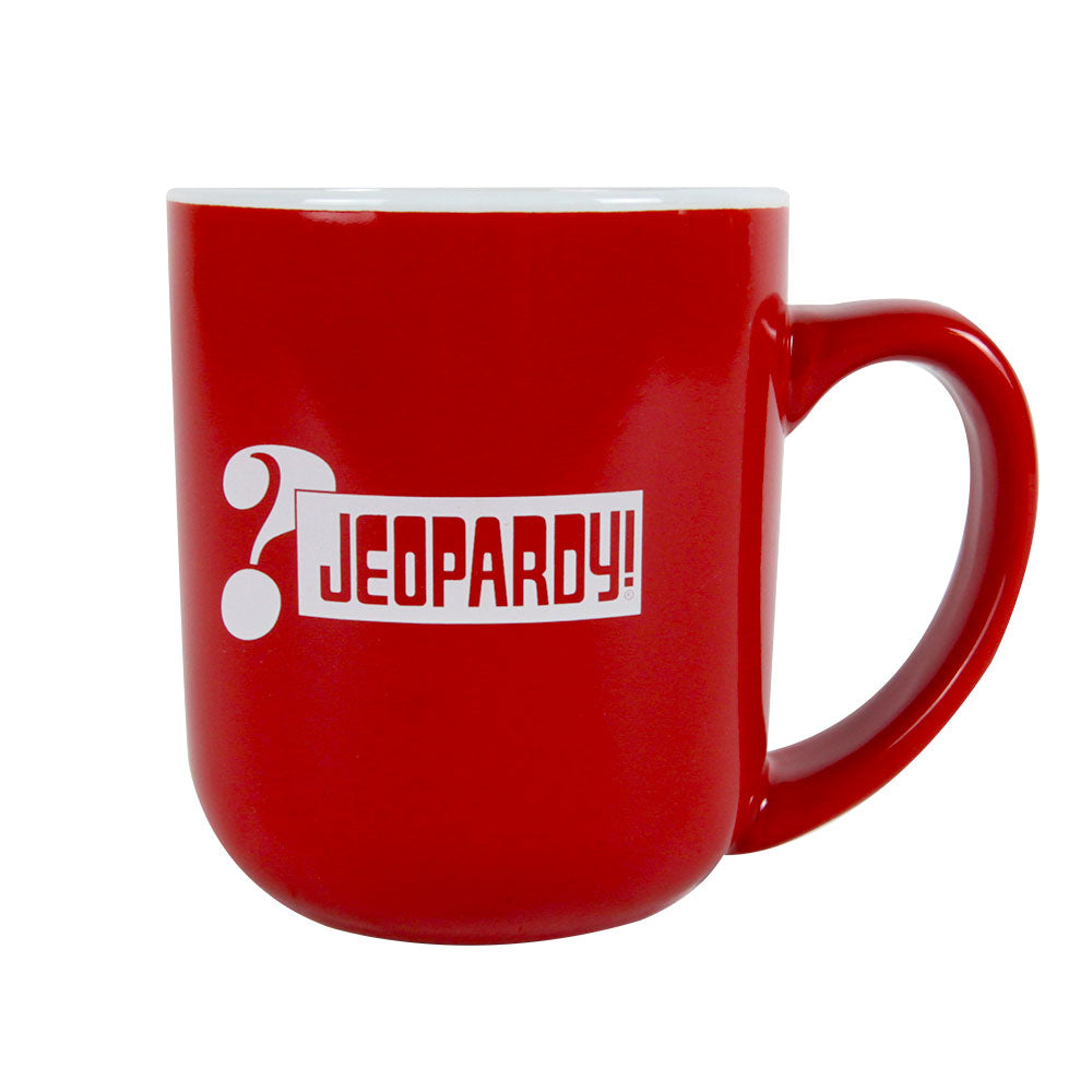 Jeopardy! Red Ceramic Mug