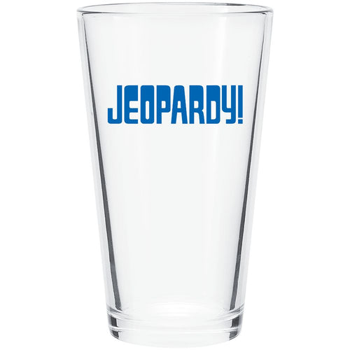 Jeopardy! Logo Blue Pint Glass