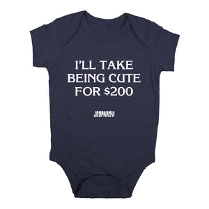 Jeopardy! I'll Take Being Cute for $200 Baby Onesie