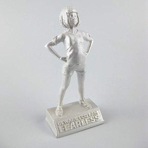Girl Power-Mae: Beware for I am Fearless - motivational and inspirational girls room decoration figurine in pearl white