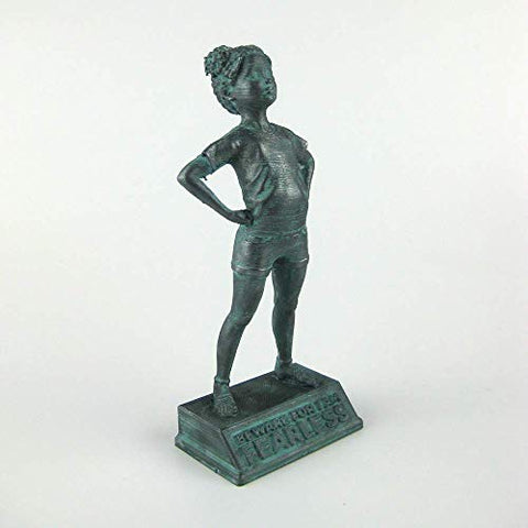 Girl Power-Tia: Beware for I am Fearless - Customizable figurine in bronze finish