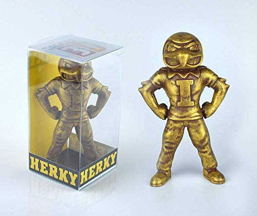 "Collectible 6"" Golden Herky the Hawk Iowa Hawkeyes Mascot"