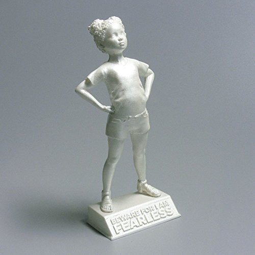 Girl Power-Tia: Beware for I am Fearless - motivational and inspirational girls room decoration figurine in pearl white