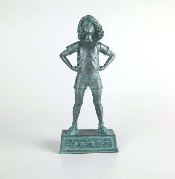 Girl Power-Lily: Beware for I am Fearless - customizable figurine in bronze finish