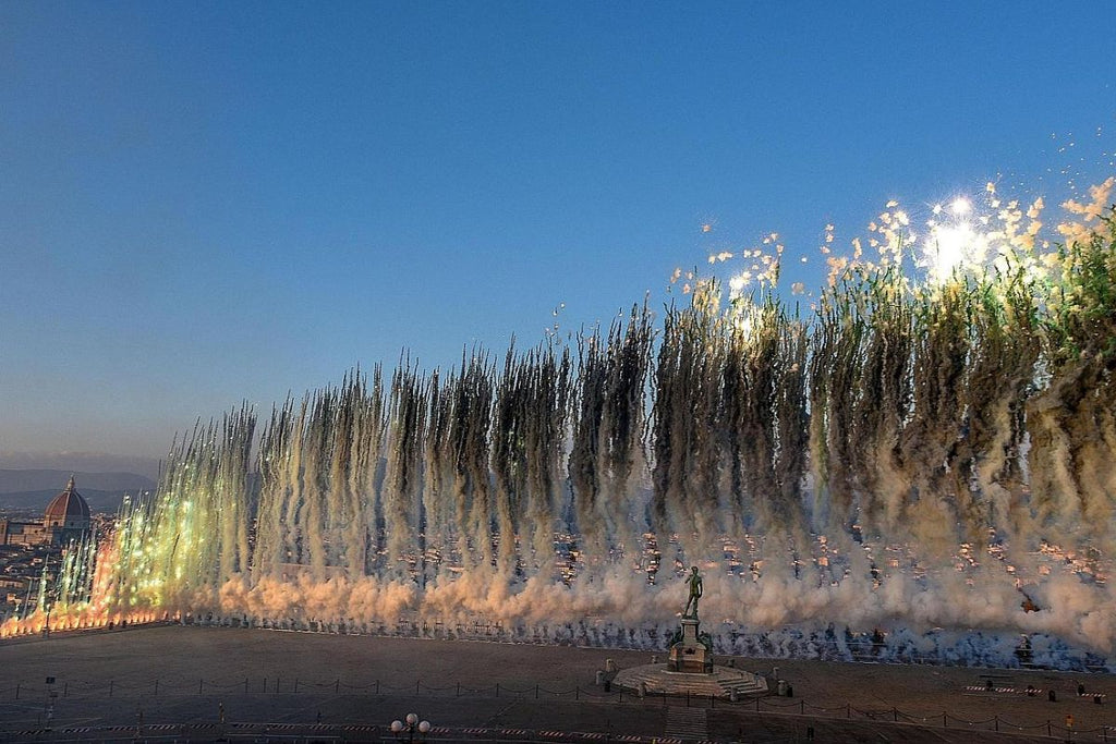 Cai Guo-Qiang at Uffizi in Florence
