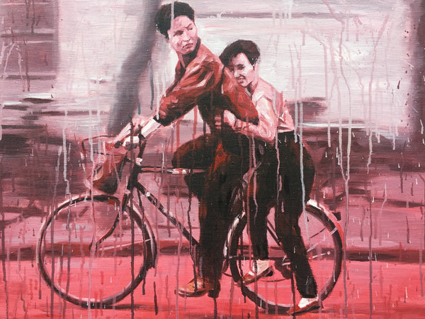 Bicyclists in Red by Sheng Qi