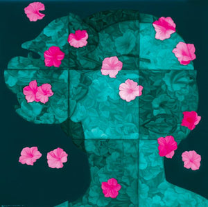 Floating Floras Series - Lattice Portrait No.6