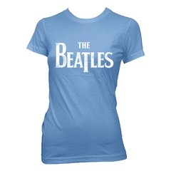 The Beatles Distressed Logo Womens Vintage Royal Blue T-Shirt - Superhero Supervillain - United States - Superherosupervillain.com