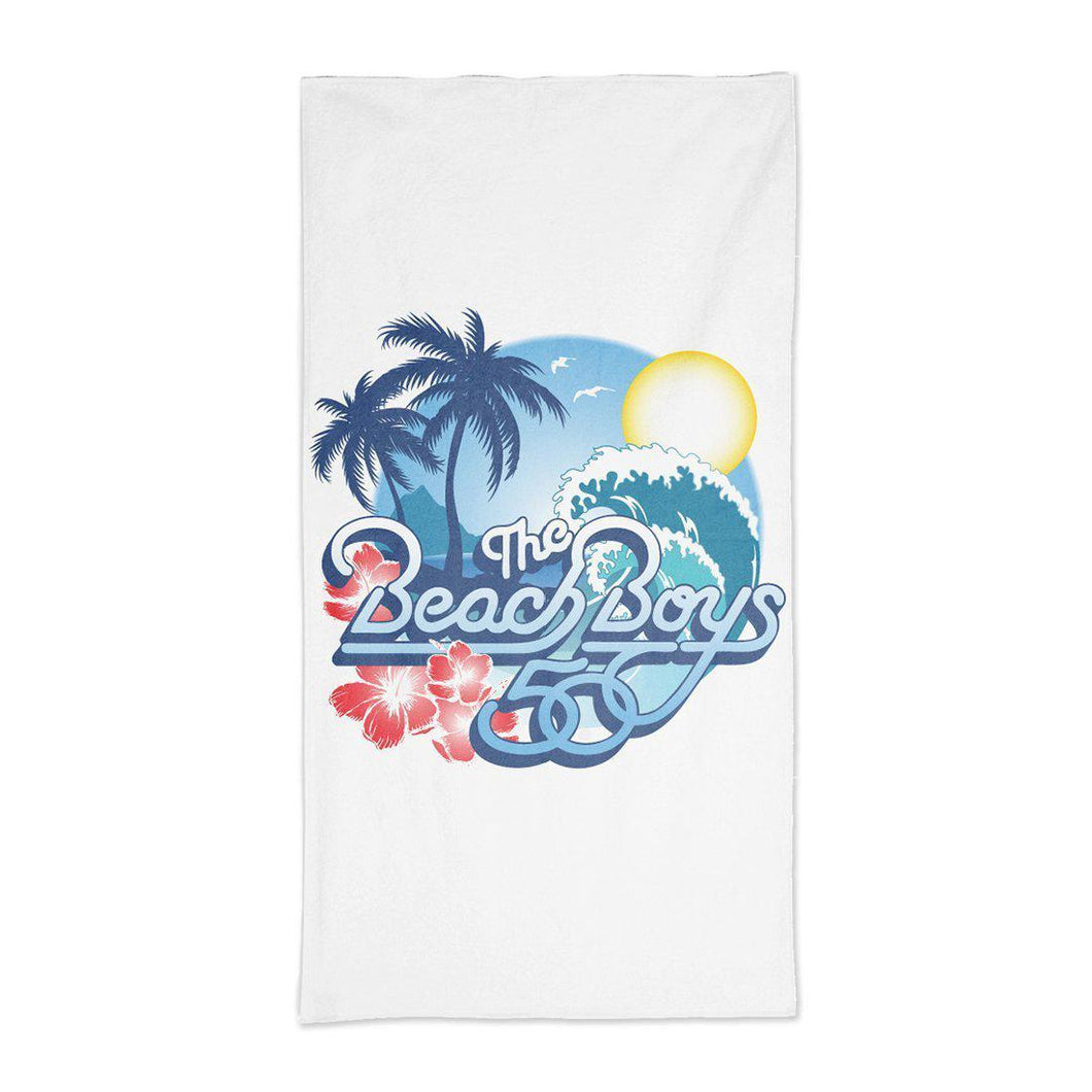 The Beach Boys Surf Sun White Towel - Superhero Supervillain - United States - Superherosupervillain.com