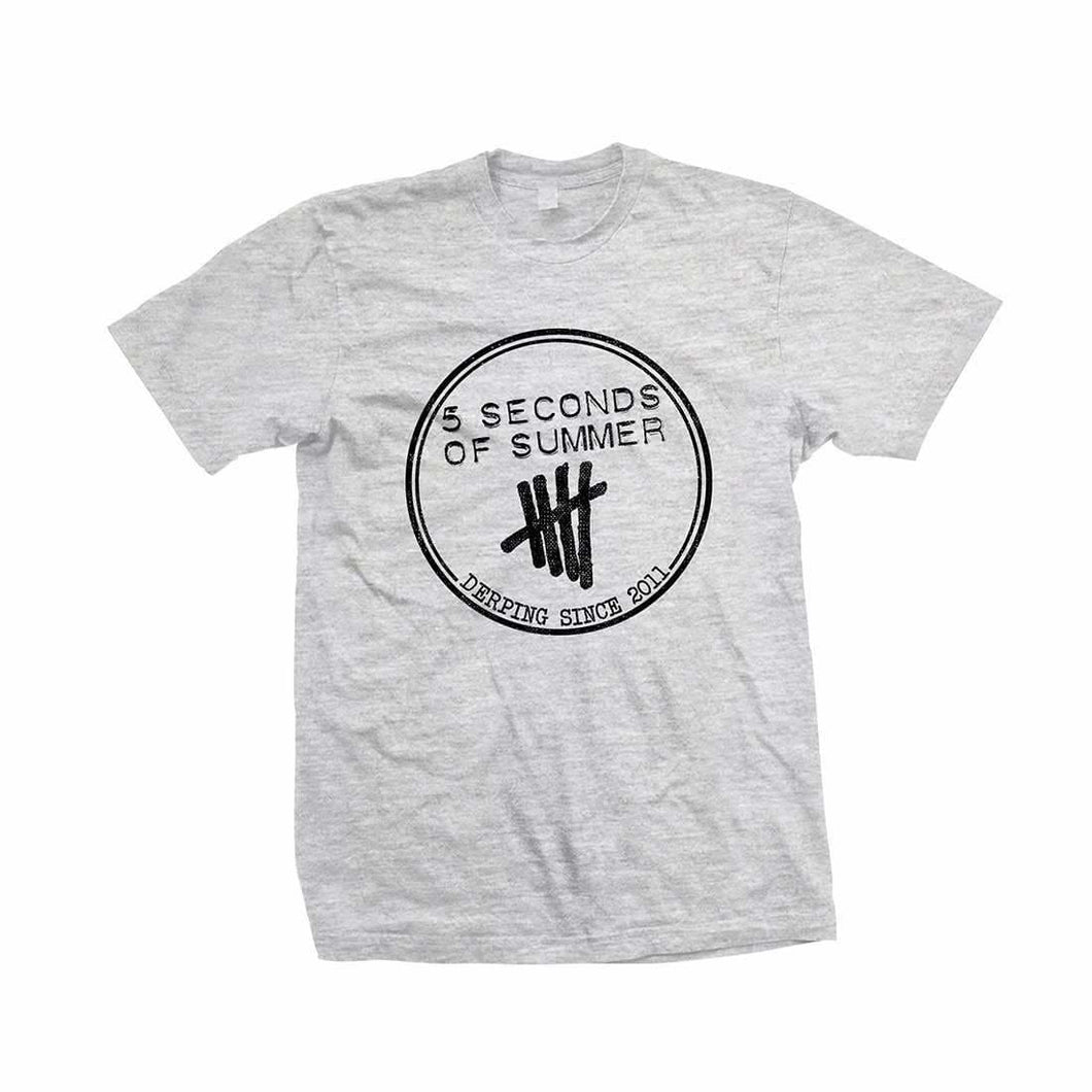 5 Seconds Of Summer Derping Heather Heather Grey T-Shirt - Superhero Supervillain - United States - Superherosupervillain.com