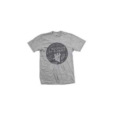 5 Seconds Of Summer Scribble Logo Heather Grey T-Shirt - Superhero Supervillain - United States - superherosupervillain.com
