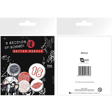 5sos Button Mix - Superhero Supervillain - United States - Superherosupervillain.com
