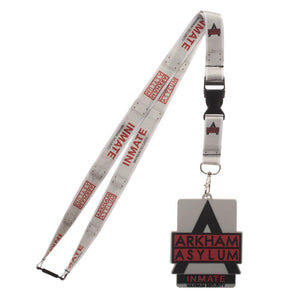 Arkham Asylum Inmate Maximum Security ID Badge Holder Lanyard Keychain