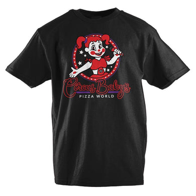 Five Nights at Freddy's Circus Baby's Pizza World Girls T-Shirt - Superhero Supervillain - United States - superherosupervillain.com