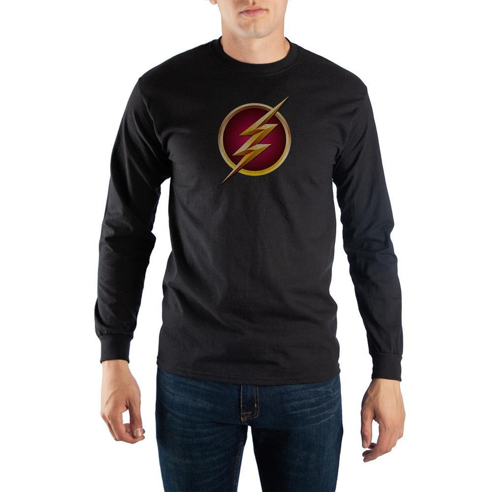 Black Long Sleeve Flash T-Shirt - Superhero Supervillain - United States - superherosupervillain.com