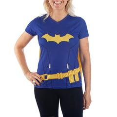 DC Batgirl Juniors Cosplay Cape Shirt - Superhero Supervillain - United States - Superherosupervillain.com