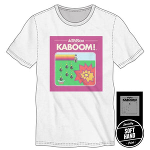 Activision Kaboom White T-Shirt Avoid the Mad Bomber - Superhero Supervillain - United States - superherosupervillain.com