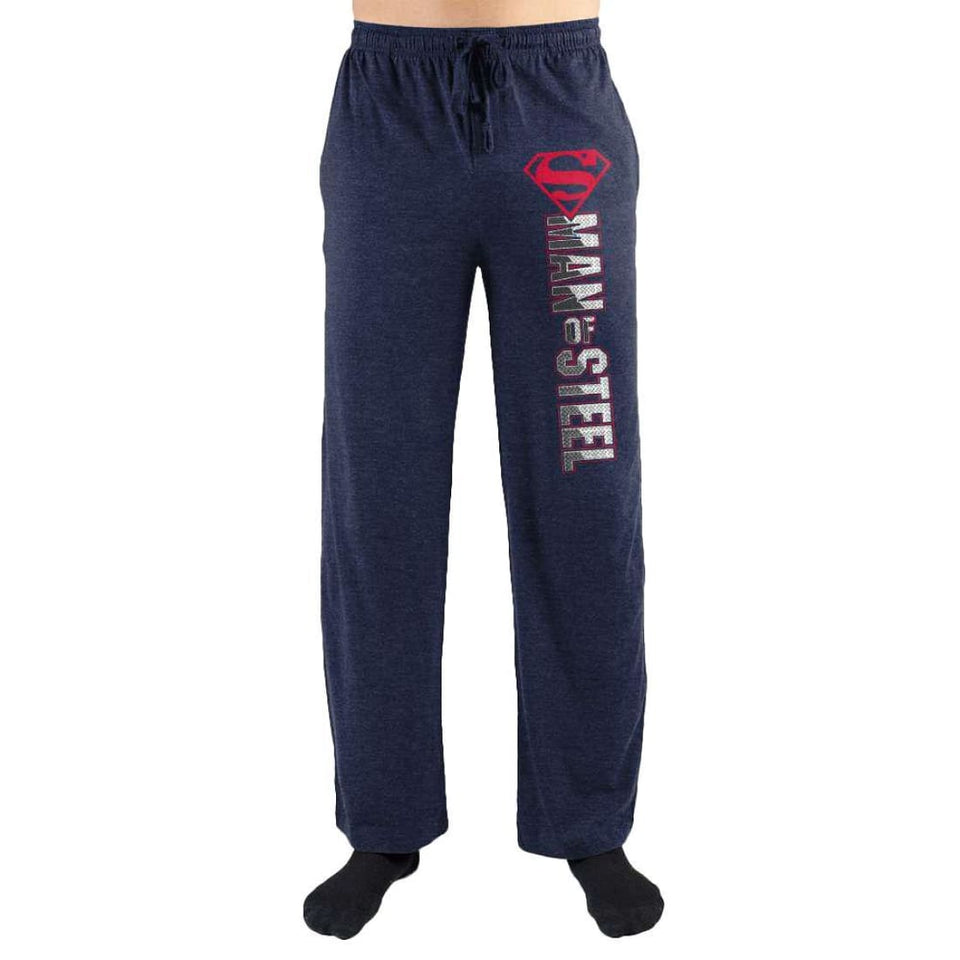 American Superman Man Of Steel Symbol Print Loungewear Lounge Pants - Superhero Supervillain - United States - Superherosupervillain.com