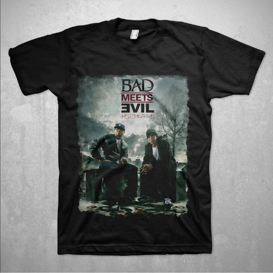 Bad Meets Evil Burn Black T-Shirt - Superhero Supervillain - United States - Superherosupervillain.com