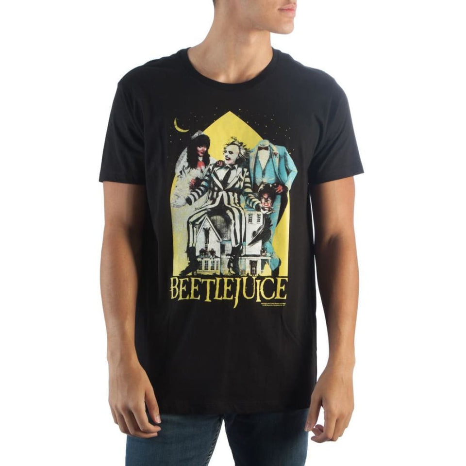 Beetlejuice Black T-Shirt - Superhero Supervillain - United States - Superherosupervillain.com
