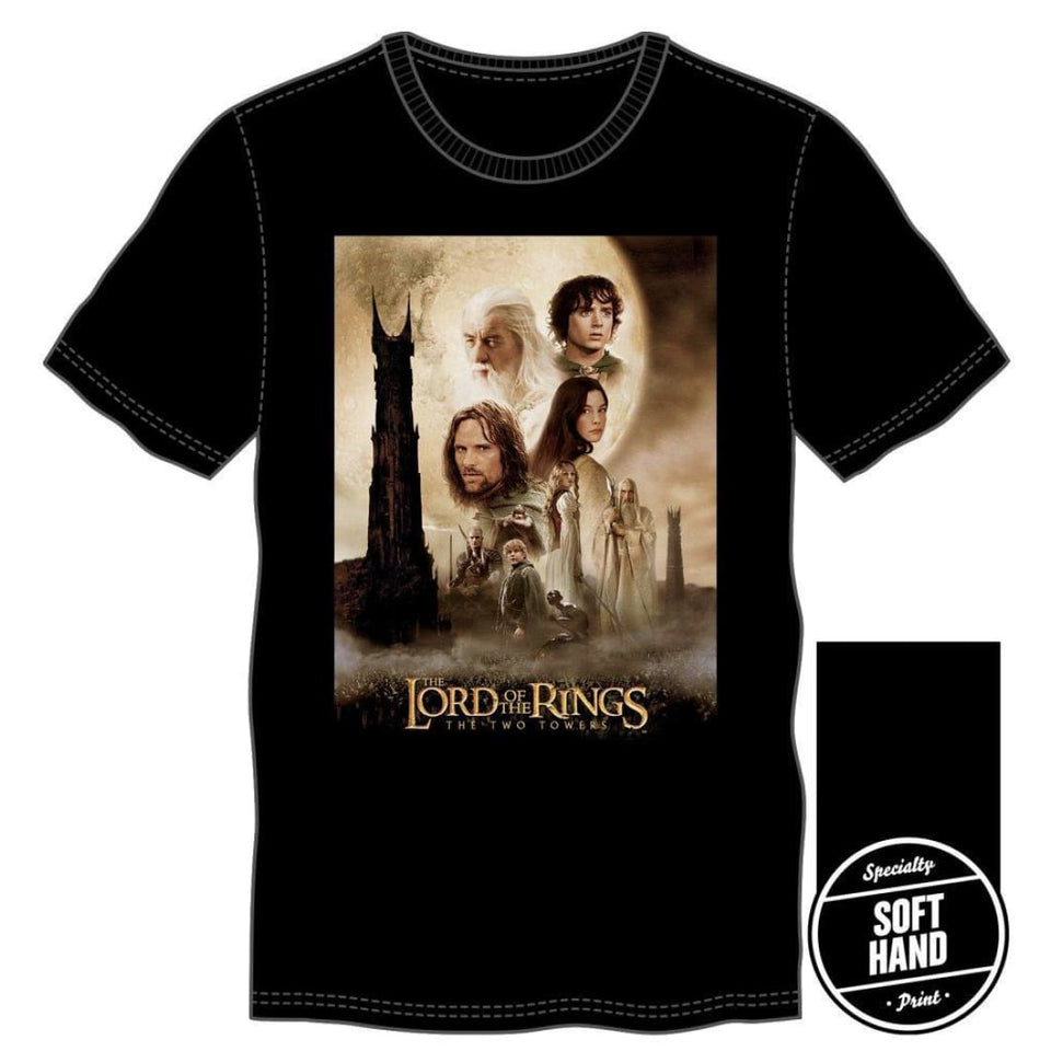 Black Lord of the Rings The Two Towers Character Shirt, - Superhero Supervillain - United States - Superherosupervillain.com