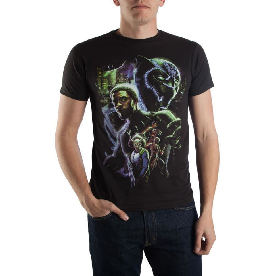 Black Panther Movie Poster T-Shirt - Superhero Supervillain - United States - Superherosupervillain.com